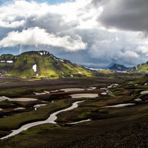 Green Mountain Valley in the Alftavatn Area Iceland Highlands