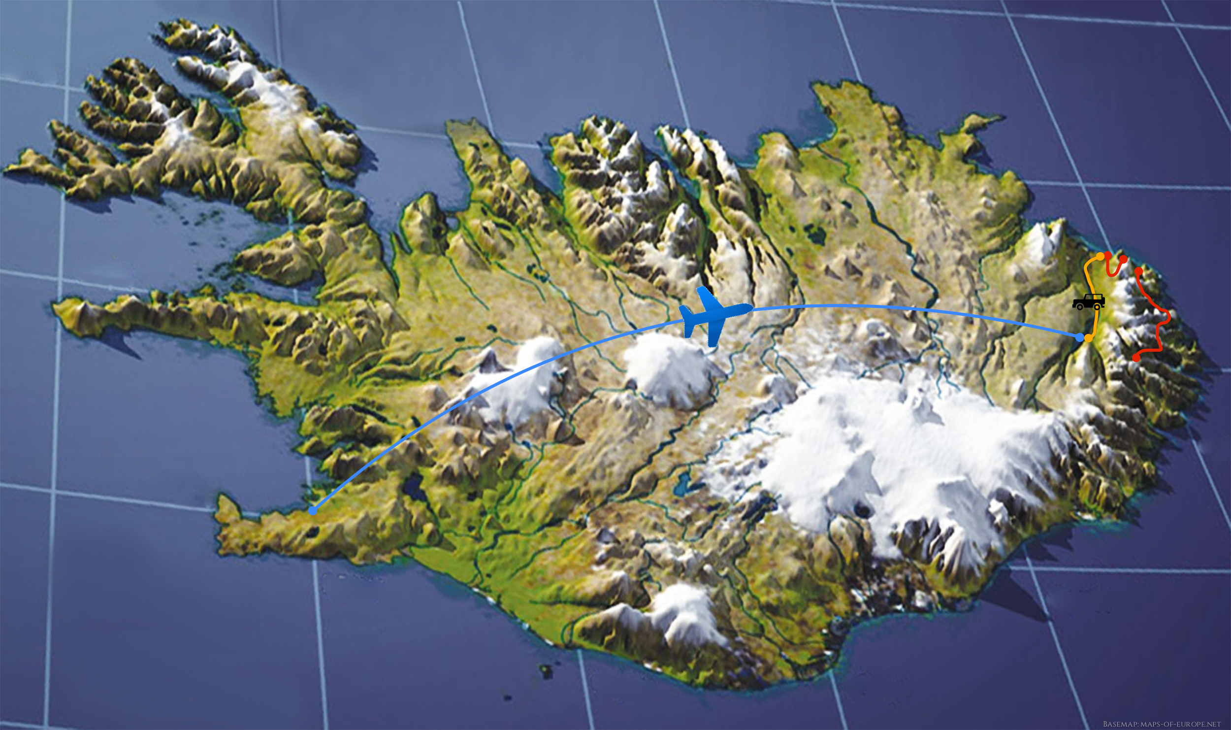 Earth Physical Map Elves Mountains Global...