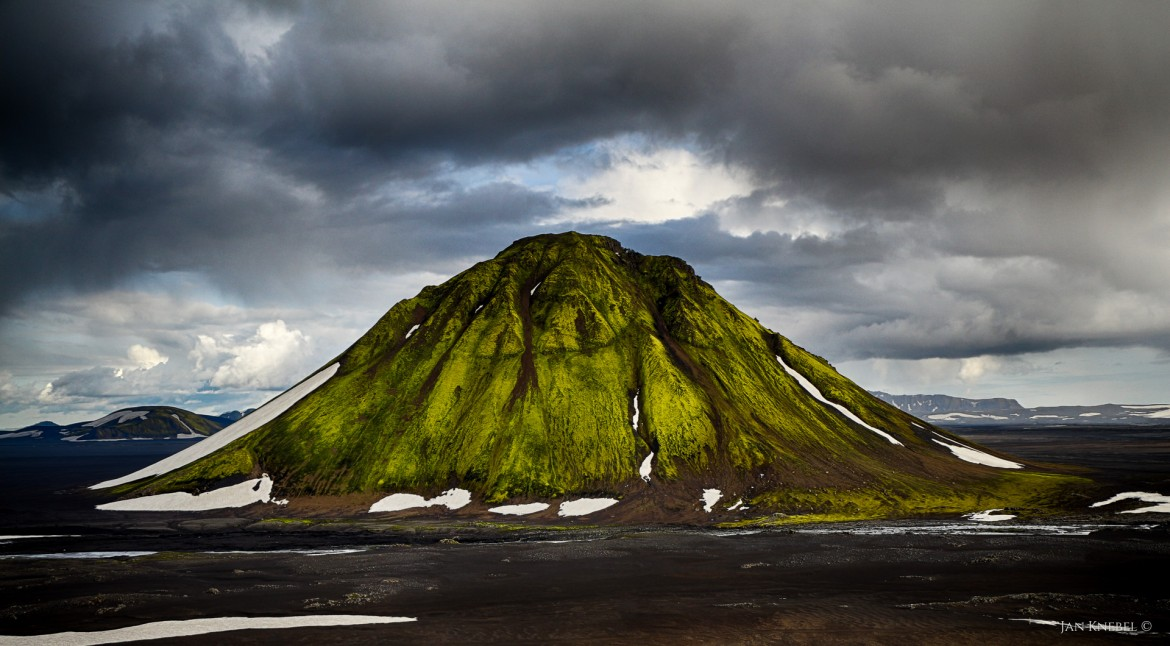 Dramatic view of Maelifell Iceland