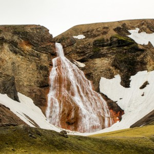 Red Waterfall Iceland