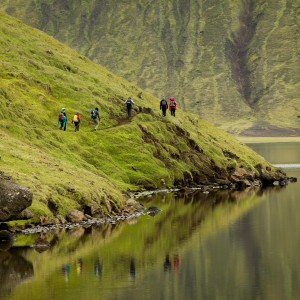 Lakeshore trekking group Trek Doors of Hell Iceland