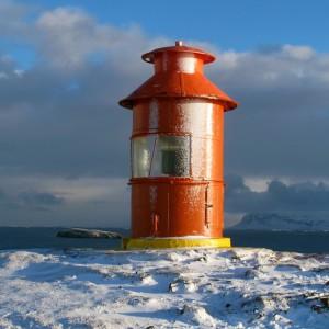 Islande phare hiver